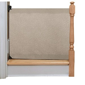 The Stair Barrier - Wall-to-Bannister Basic Baby/Pet Gate, Wide - Khaki by The Stair Barrier