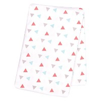 Trend Lab Coral Triangles Deluxe Flannel Swaddle Blanket by Trend Lab