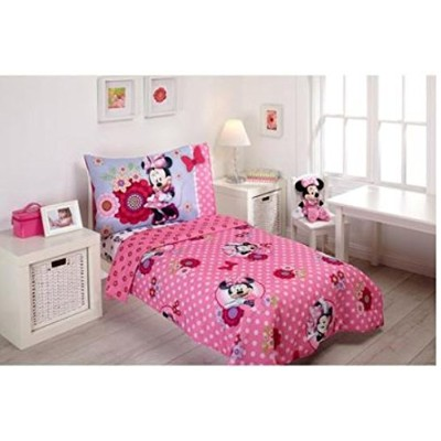 Disney Minnie Mouse Bow Power 4-Piece Toddler Bedding Set by Disney