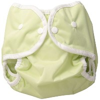 Thirsties Snap Diaper Cover, Celery, Medium by Thirsties