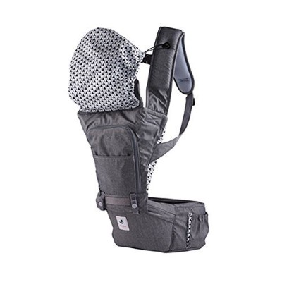 Pognae No 5 Outdoor Organic Baby Hipseat Front Backpack Carrier (Gray) by Pognae