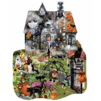 Spooky House a 1000-Piece Jigsaw Puzzle by Sunsout Inc. ハロウィーン幽霊屋敷ジグソーパズル(1000ピース) [並行輸入品]