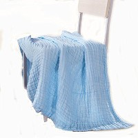 Aoming Newborn Muslin Cotton Warm Baby Bath Towels Blue Also for Baby Blanket by Aoming