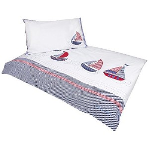 JoJo Maman Bebe Applique Cot Bed Duvet Set, Nautical [並行輸入品]