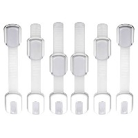 WONDERKID Top Quality Adjustable Child Safety Locks - Latches to Baby Proof Cabinets & Appliances....