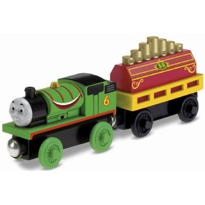 Fisher-Price Thomas the Train Wooden Railway Percy's Musical Ride [並行輸入品]