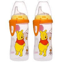 NUK Winnie the Pooh Silicone Spout Active Cup, 10-Ounce, 2 Count by Disney
