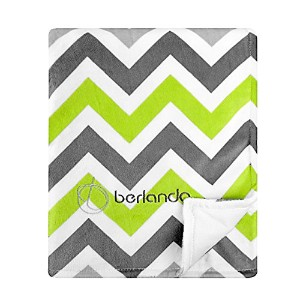 berlando - Signature Edition - Chevron Baby Blanket , Green and Gray, 100% Polyester, #1 Ranked in...