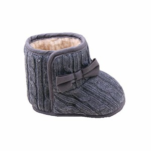 Zerowin Baby Toddler Girls Fleece Woollen Fur Knitted Bowknot Snow Boots Warm Winter Soft Shoes (12...