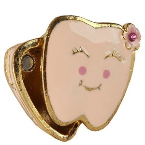 Home-X Pink Tooth Trinket Box. Girl by Home-X