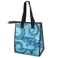 Small Non-Woven Lunch Bags Tribal Shark by Welcome to the Islands