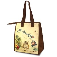 Small Non-Woven Lunch Bags Islands of Hawaii Tan by Welcome to the Islands