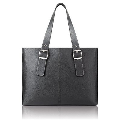 【並行輸入品】Solo Classic Ladies 16 Inch Laptop Tote, Black (K710-4)