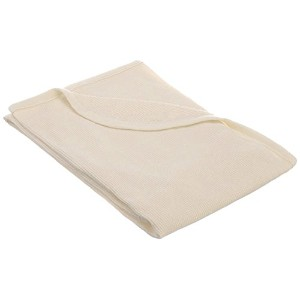 TL Care 100% Cotton Swaddle/Thermal Blanket, Ecru by TL Care