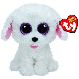New TY Beanie Boos Cute PIPPIE the White Bichon Dog Plush Toys 6'' 15cm Ty Plush Animals Big Eyes...