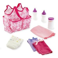 You & Me Baby Doll Diaper Tote Bag with Accessories by MEE TONG SHOP