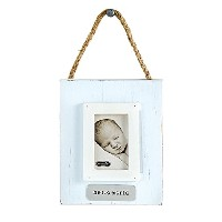 Mud Pie Hello World Ornament Frame, Blue, 3 x 2 by Mud Pie