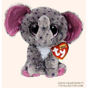 New TY Beanie Boos SPECKS the Spreckled Elephant (Glitter Eyes) (Regular Size - 6 inch)Cute Plush...