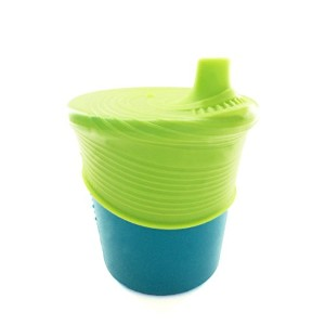 Silikids Siliskin Silicone Sippy Cup, Teal/Lime by Silikids