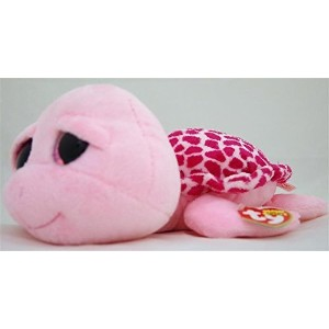 New TY Beanie Boos Cute SHELLBY the Pink Turtle (Glitter Eyes) (Regular Size - 6 inch) Plush Toys 6...