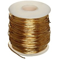 Brass 230 Wire, Bright, Orange, 14 AWG, 0.0641 Diameter, 90' Length (Pack of 1) by Small Parts