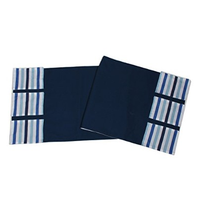 Bacati Little Sailor Changing Table Storage Runner, Blue Stripes by Bacati