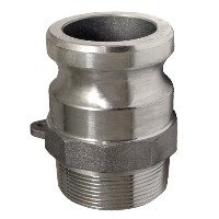 Apache 50400240 Part F Male Cam and Groove Adapter, Aluminum, 1.5 by Apache