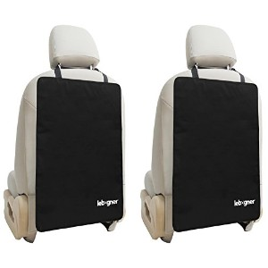 Car Seat Back Protectors By Lebogner - Luxury Kick Mat Seat Covers For The Back Of Your Front Seats...