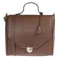 Trussardi Woman Handbag in Genuine Dollar Leather 100% Calf - 32x30x14 cm 女性のためのバッグ (Dark brown) ...