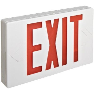 Morris Products 73010 LED Exit Sign, Standard Type, Red LED Color, White Housing by Morris Products