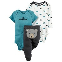 Carters Baby Boys 3-Piece Little Character Set Mr Adorable Bear, Turquoise, 24M by Carter's