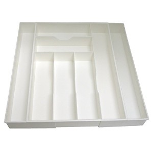 Dial Industries Mega Expand White Expanding Kitchen Drawer Organizer by Dial