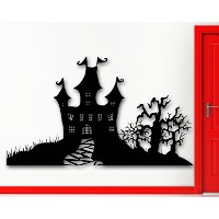 Wall Stickers Vinyl Decal Castle Fortress Wood Horror Halloween Home Decor (ig928) by WallStickers4e...