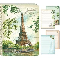 Eiffel Tower Painting Punch Studio Travel Soft Cover Journal by Punch Studio