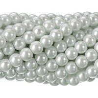RUBYCA 200Pcs Czech Tiny Satin Luster Glass Pearl Round Bead for Beading Jewelry Making 12mm White...