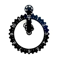 Kikkerland Big Wheel Hour Wall Clock, Black [並行輸入品]