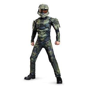 Halo Master Chief Muscle Kids Costume [並行輸入品]
