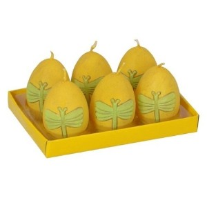 Fantastic Craft Boxed Yellow Dragonfly Egg 6-Pack Tea Light Candles [並行輸入品]