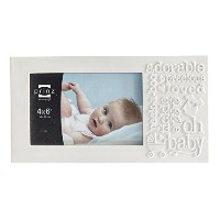 Prinz Bundle of Joy Matte 'Baby' Resin Frame, 6 by 4-Inch, White [並行輸入品]