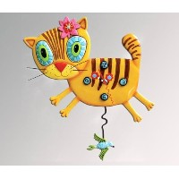 Allen Designs Kimi Kitty Pendulum Clock by Allen Studio Designs [並行輸入品]