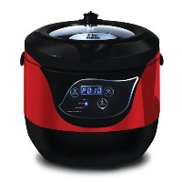 Maxi-Matic Elite Platinum Smart and Healthy Low Pressure Cooker, Red by Maximatic [並行輸入品]