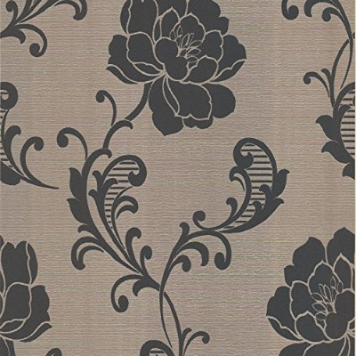 Beacon House 284-54246 Sienna Ezina Brass Floral Scroll Wallpaper [並行輸入品]