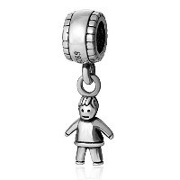 SoulBead Little Boy&girl Authentic 925 Sterling Silver Charm Beads (Boy) by Fits Pandora charms...