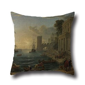 Monet PaintingBusy Day Pillowcase 20 X 20 Inches / 50 By 50 Cm Best Choice For Study Room,bench...
