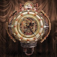 Colonel J. Fizziwigs Steampunk Collection Wall Clock [並行輸入品]