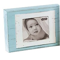 Mud Pie Frame, Block/Blue by Mud Pie