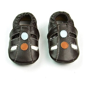 Shubb Leather Baby Toddler Infant Prewalker Shoes with Soft Sole 6-12months Brown by Shubb