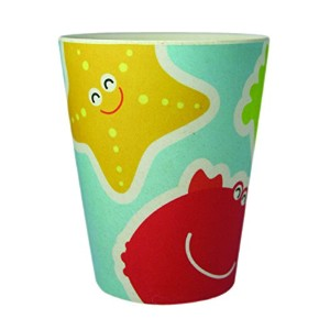 EcoBamboo Ware Kid's Under The Sea Cups/Tumblers Set, Blue/Yellow/Red by EcoBamboo Ware