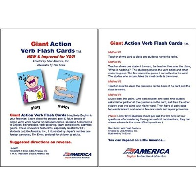 Giant Action Verbs Flash Cards