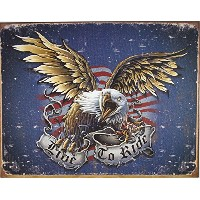 Live To Ride Eagle Metal Sign by Grindstore [並行輸入品]